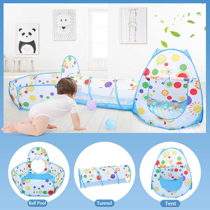 Детский Сияющий складной портативный детский игрушечный манеж для игр в помещении/на улице, 3 шт.