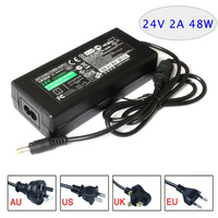 Switching Power Supply AC DC Adapter 24V 2A 48W Table Type EU USA AU UK Plug