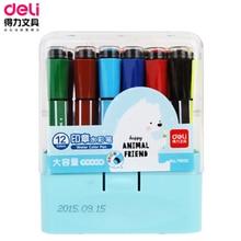 DL Right 70652 дети с уплотнениями акварельные цвета воды 12 цветов шестиугольный граффити живопись ручка для студентов обучающие материалы
