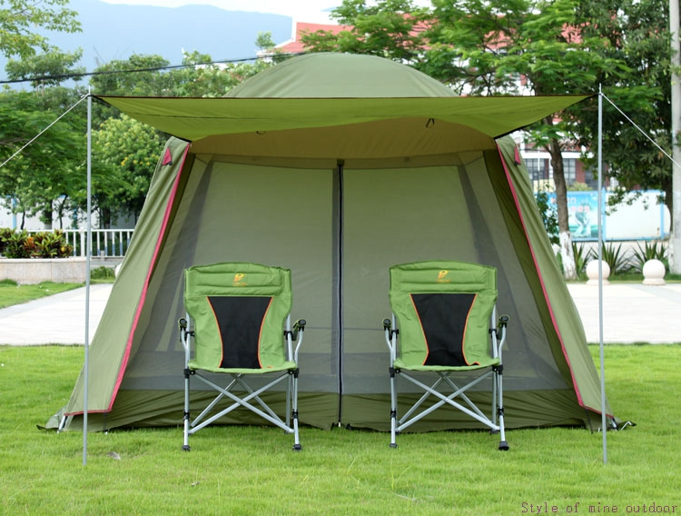 High quality single layer ultralarge 4-8person family party gardon beach camping tent gazebo sun shelter mesh mosquito tent trackman 5 8 person outdoor camping tent one room one hall family tent gazebo awnin beach tent sun shelter family tent