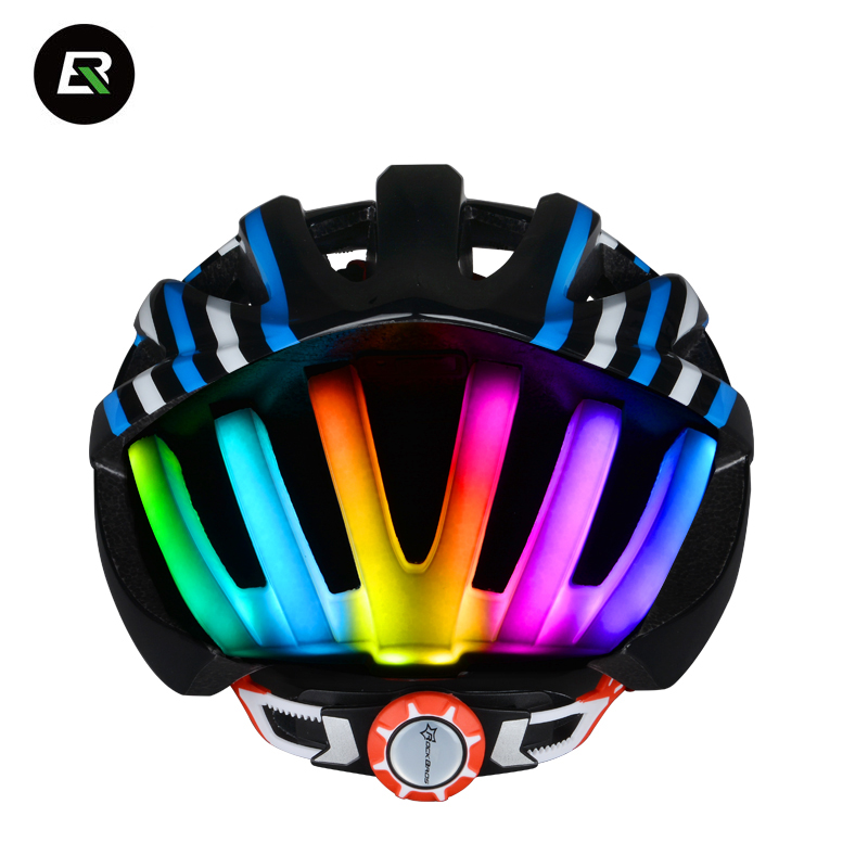Rockbros Cycling Helmet Night Riding Fluorescent Light Safety MTB Road Bike Helmet Men Women Bicycle Helmet Casco Ciclismo protection cycling bicycle safety glasses riding cycling goggle eyewear gafas de seguridad men women sunglasses2103