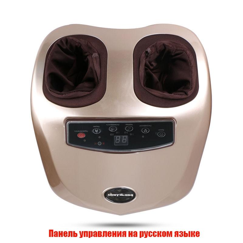 Menu Russo 220 v elétrica massager do pé pés massagista automática amassar e aquecimento massageador para os pés 1 ano garantia