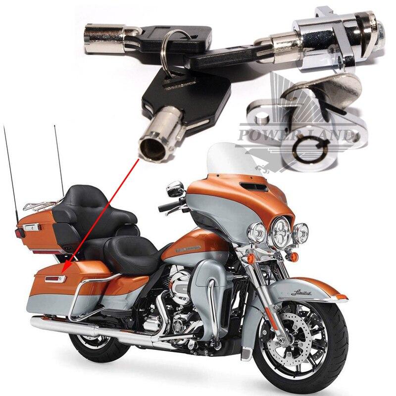 Free Shipping Brand New Premium Hard Saddlebag Trunk Saddle Bags Lock Key Set For Harley Road Glide King Touring Models