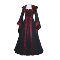Fengguilai 2018 Medieval Dress New Women Vintage Style Gothic Dress Costume Pirate Ball Gown Peasant Wench Victorian Dress