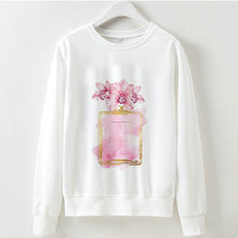 2019 Women Clothed Perfume Flowers Graphic Printed Hoodies Sweatshirt Moletom Feminino Inverno Fashion Harajuku White Hoodie