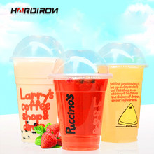 95 Caliber Thickened Large Capacity Disposable Transparent Plastic Cup Coffee Milk Tea Juice With Lid Hot and Cold Drink PP Cup(China)