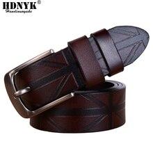 Низкая цена для продвижения Высокое качество поясной ремень натуральная кожа ремни для мужчин подходящие джинсы брендовые дизайнерские ремни