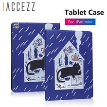 !ACCEZZ 7.9 inch Tablet Sleeve Bag Cover Funda Case For iPad Mini 1 2 3 4 Cartoon Protective Filp Cases Smart Auto Sleep Wakeup