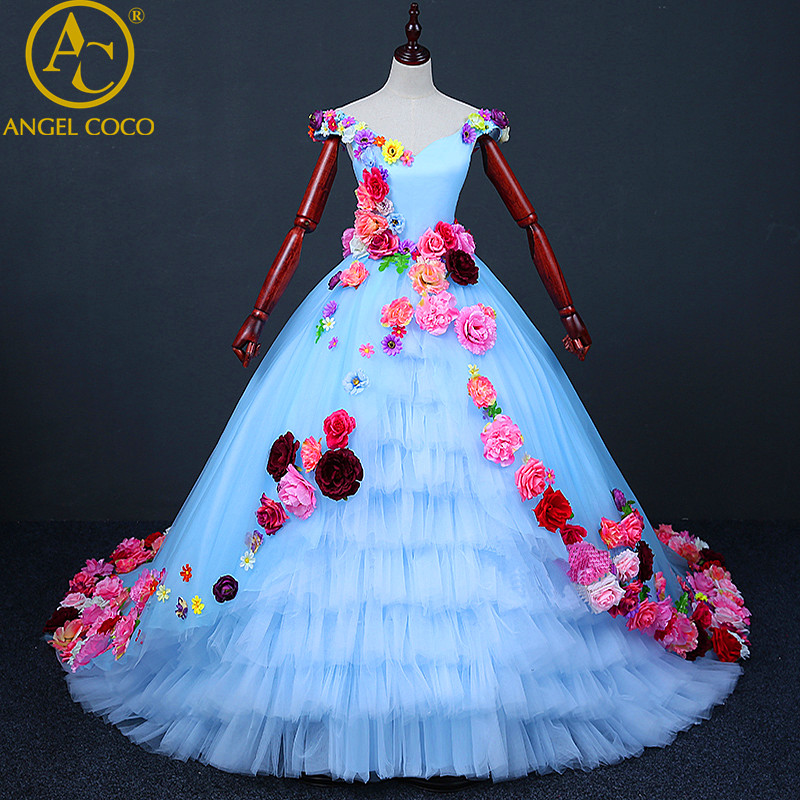 Luxury Princess Flower Girl Evening Dress Robe De Soiree Beaded Beautiful Childrens Costume Floor Length Gown Great Gatsby Dress вечернее платье robe de soiree 2015 vestido arabia style evening dress