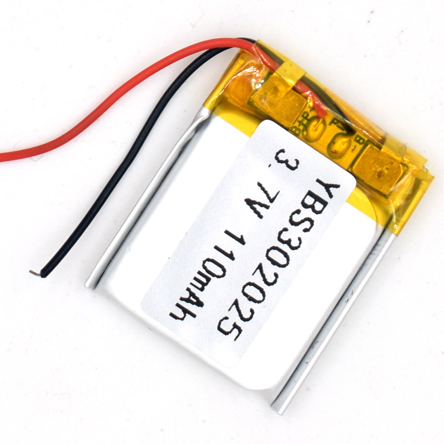 3.7V 110 mAh <font><b>302025</b></font> Li-Polymer Rechargeable Battery Li Po ion for GPS Bluetooth MP3 MP4 032025 image