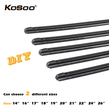 "KOSOO Wiper Strips Car Vehicle Insert Rubber Strip Blade (Refill) 8mm Soft 14"" 16"" 17"" 18"" 19"" 20"" 21"" 22"" 24"" 26"" 2pcs Styling(China)"