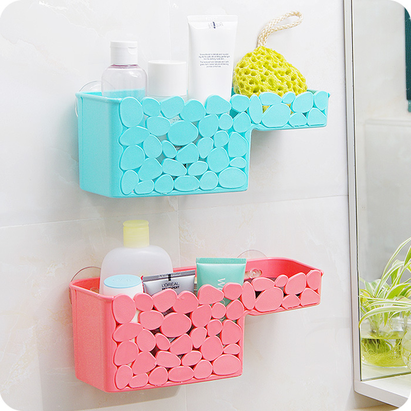 PP plastic Imitation cobblestone sucker Drain shower basket with ...