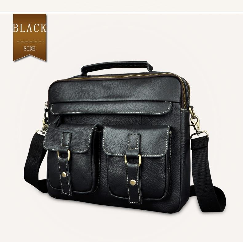 """HTB1eduqdwfH8KJjy1zcq6ATzpXaW Le'aokuu Men Real Leather Antique Style Coffee Briefcase Business 13"""" Laptop Cases Attache Messenger Bags Portfolio B207-d"""