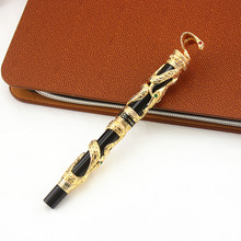 High Quality Jinhao Metal Snake Fountain Pen Luxury Calligraphy Ink pen Iraurita Cobra 3D Pattern Gift 0.5 Nib Office Supplies