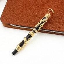 Jinhao pluma estilográfica de serpiente de Metal de alta calidad, pluma de tinta de caligrafía de lujo, 3D con patrón de Cobra, regalo, 0,5 Nib, suministros de oficina