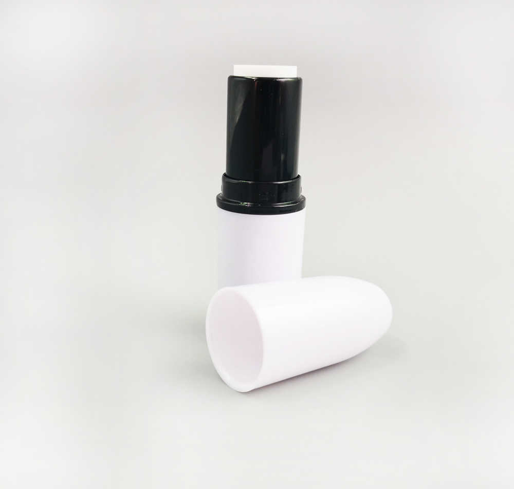 Hitam/Putih Peluru Tabung Lipstik Peluru Lipstick Case, Lipstik Diy Wadah DIY Peluru Lip Gloss Kontainer