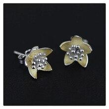 Hecho a mano de Flores Frescas de Diseño Especial Auténtica Plata de Ley 925 Nueva Mujer Accesorios de Joyería de La Vendimia pendientes bouijx