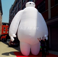 Customized gigantic durable oxford fabric made Inflatable Baymax Balloon Inflatable Cartoon Model for Advertising