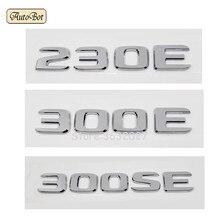 For Mercedes Benz 230E 300E 300SE W204 W203 W211 W210 W212 W205 Cla Gla Glc Glk Trunk Rear Emblem Badge Chrome Letters Sticker