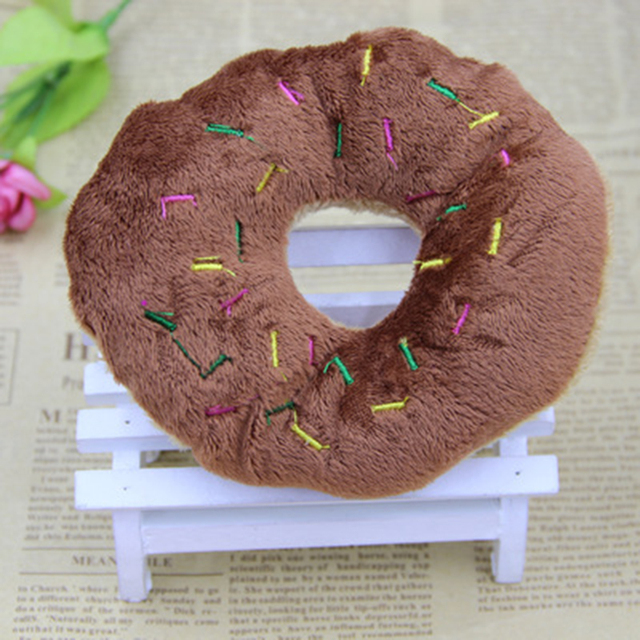 Donut Shaped Soft Multicolor Dog Toy