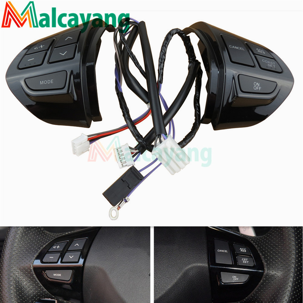 Factory price Steering Wheel Control Buttons Remote Cruise Control Bluetooth Button with Wire For Mitsubishi ASX