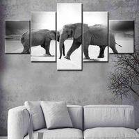 Animales elefante lienzo pintura pared arte cartel e impresión nórdico imagen para niños bebé Niñas Sala Decoración para el hogar