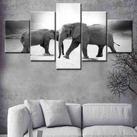 Animals Elephant Canvas Painting Nursery Wall Art Poster And Print Nordic Picture For Kids Baby Girls