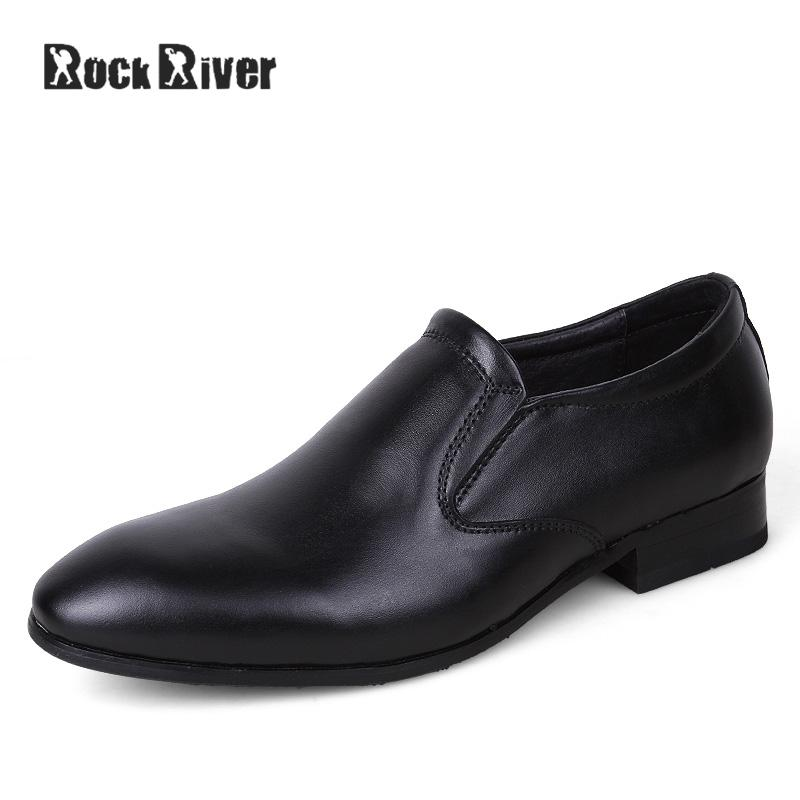 2017 Pointed Toe Men Dress Shoes Slip On Formal Shoes Men Genuine Leather Men Shoes For Wedding High Quality Big Size 38-50 choudory mens silver flat wedding shoes genuine leather slip on men loafers shoes pointed toe dress shoes