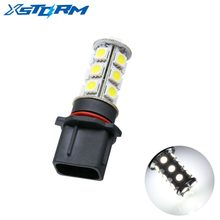 2pcs P13W 18 SMD 5050 Pure White DRL Fog LED Car Bulb Lamp Auto led bulb Car Light Source parking 12V 6000K Head Lamps(China)