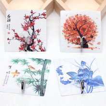 1pcs Variety of options Key & Decorative Hooks strong punch-free glue hook bathroom door kitchen wall paste no trace hook цена