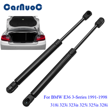 2pcs Car Auto Tailgate Gas Struts Lift Spring Shock Gas Struts for BMW E36 3-Series 318i 323i 323is 325i 325is 328i 1991-1998 image