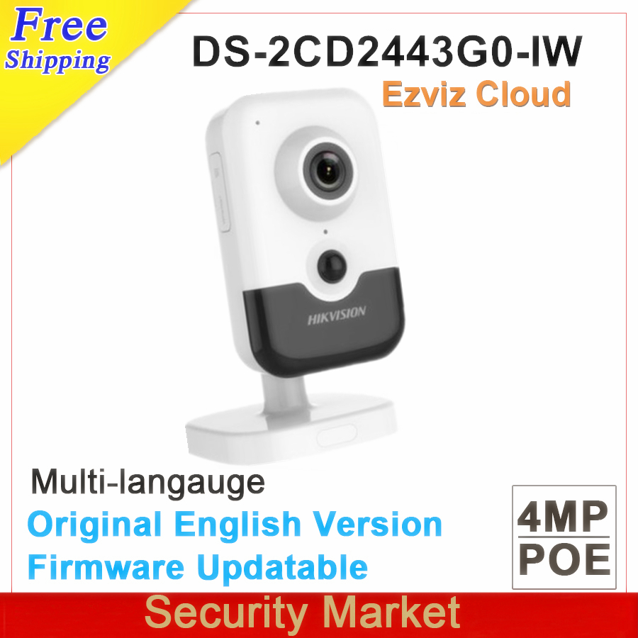 Original hik english version 4MP IR Cube Network Camera DS 2CD2443G0 IW replace DS 2CD2442FWD IW