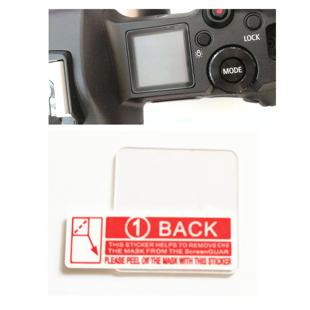 Glass LCD Screen Protector Cover Guard for Canon EOS R R5 Info Top Shoulder Screen of EOSR Camera