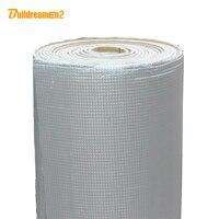 Buildreamen2 1000cm x100cm Car Truck Cover Heat Shield Sound Insulation Deadener Aluminum Foil Material Cotton Deadening