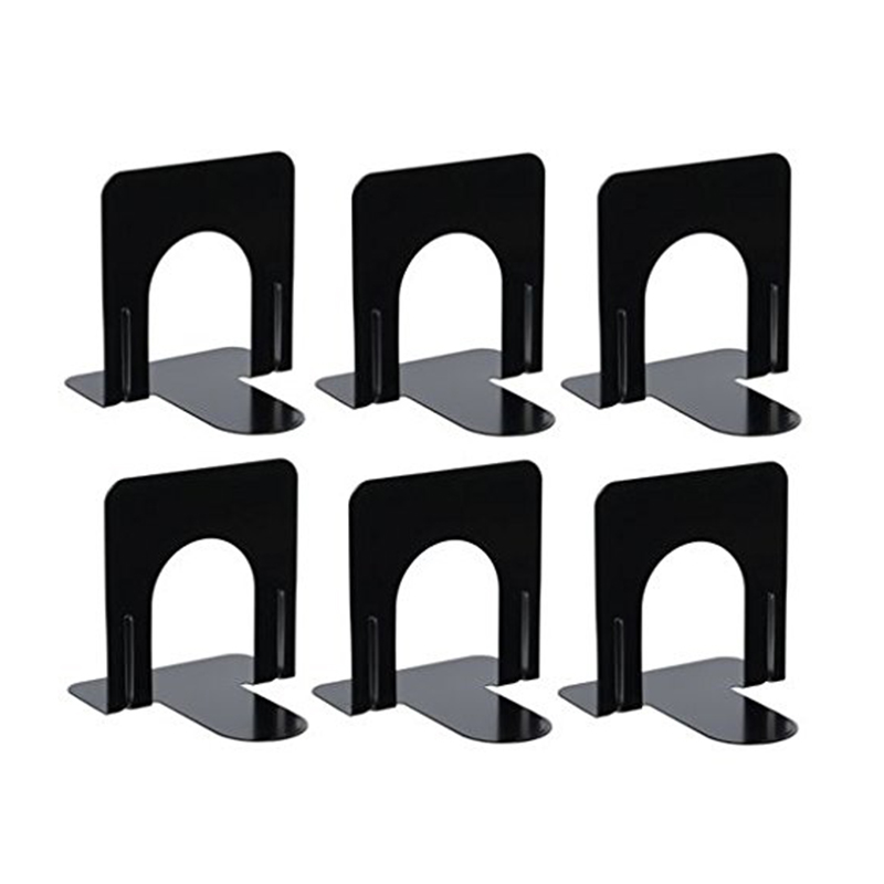 Metal Bookends, Sturdy And Nonskid, Heavy Duty Metal Book Ends Supports For Books, DVDs, Magazines, Great For Office, Home, Sc