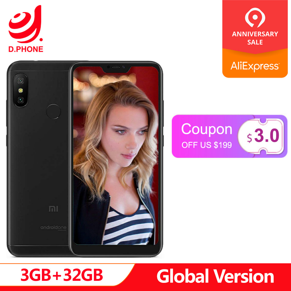 Version originale mondiale Xiao mi A2 Lite 3 GB 32 GB Android One Snapdragon 625 Octa Core 5.84