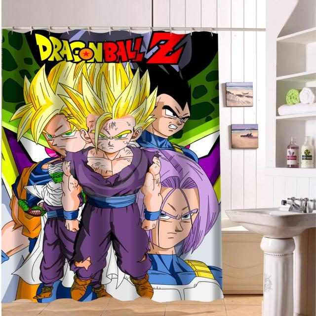 F516XY2 Custom Dragon Ball Z Fabric Modern Shower Curtain Bathroom Waterproof LF2