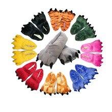 2017 Nouvelle Arrivée Super Doux Chaud Maison Pantoufles Pour Hommes Femmes Enfant Animal de Bande Dessinée Patte Pantoufles Drôle Pantoufles Chaussures Automne/hiver