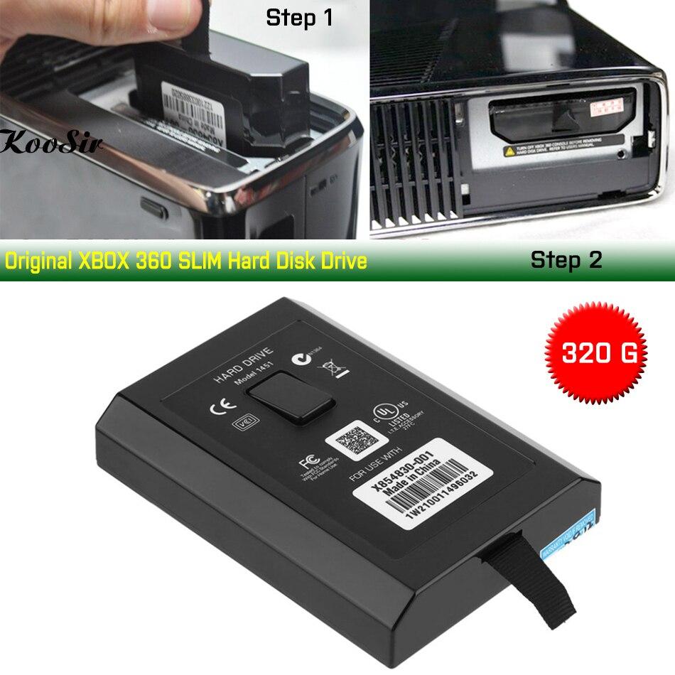 Original 320G Disco Rígido Para XBOX 360 SLIM 360 E Consola de 320GB HDD Disco Rígido Disco Rígido para Microsoft xbox 360 S/E Consola