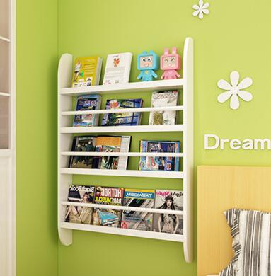 Children hang wall bookcase. Simple solid wood bookcase. Shelf on the wall the wall shelf tv setting wall bookcase display shelf