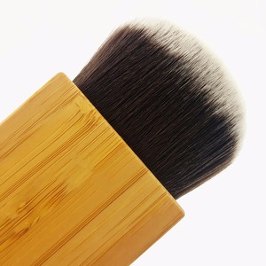 1Pc Makeup Brush Power Contour Bronzer Bamboo Handle Blush Cosmetic Foundation Hair Beauty bloggers Tool pinceis maquiagem