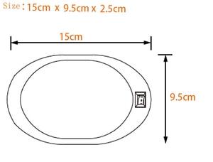 Image 4 - 4 W LED תקרת כיפת אור פלסטיק סגלגל תקרת מנורת עבור 12 V הימי סירת מוטורהום אבזרים