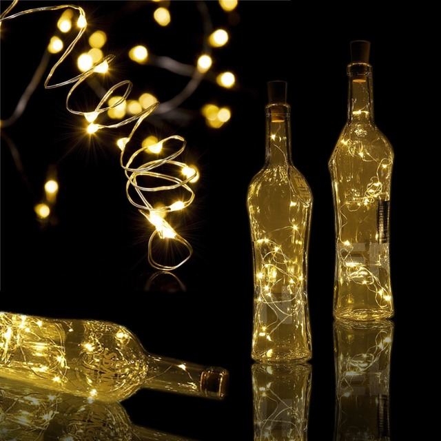 2m 20led silver wire string lights wine bottle cork lights decoration string lights for bottle diy