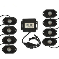 LED RGB Rock lights 8 LEDs Controlled by Cell App for JP Offroad Under Body 8PCS Rock Lights with Bluetooth Controller