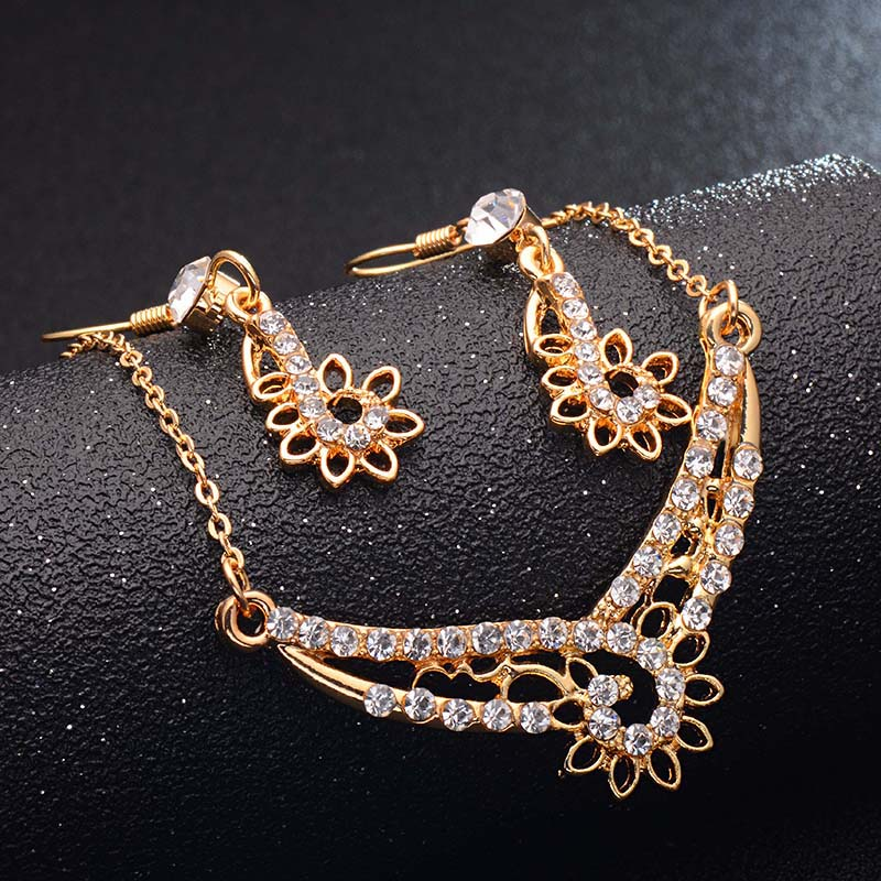 H HYDE 4 Design Rose Gold Color Bridal Jewelry Sets More for Women Wedding with High