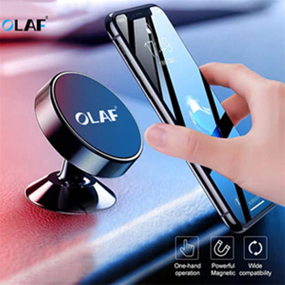 OLAF Magnetic Car Phone Holder For IPhone X XS 8 Samsung Mobile Phone Holder Stand Magnet Mount Car Holder For CELL Phone In Car