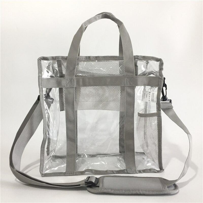 Women Transparent PVC Cosmetic Bag Waterproof Clear Shoulder Bags Ladies Plastic Beach Bag Make up Tote Organizer Makeup Handbag алиэкспресс сумка прозрачная