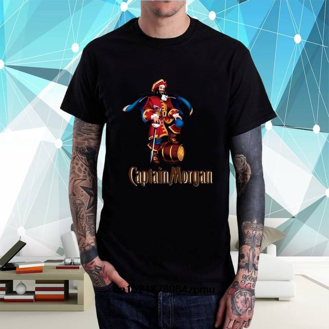 59b890498dae4 Online Shop Gildan Men t shirt Captain Morgan Black Cool Top Printed Shirt  t-shirt novelty tshirt women