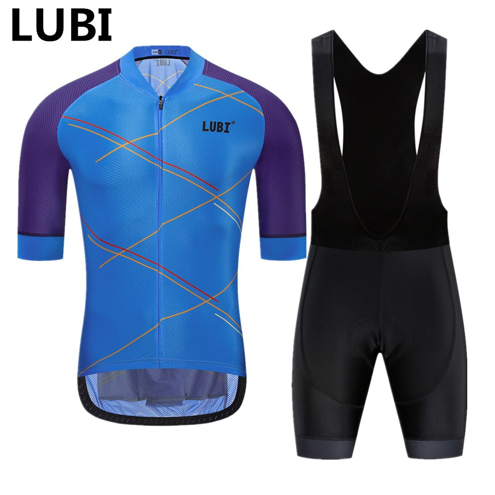 LUBI 3 Colors 2019 Pro Team Men Summer Cycling Jersey Bib Short Set Sponge Pad MTB Clothes Kits Bike Clothing Suit Ropa Ciclismo