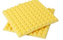 [ Fly Eagle ] Yellow Acoustic Foam Sound Treatment Absorption Wedge Tiles Studio/Music 12Pcs 50cm X 5cm
